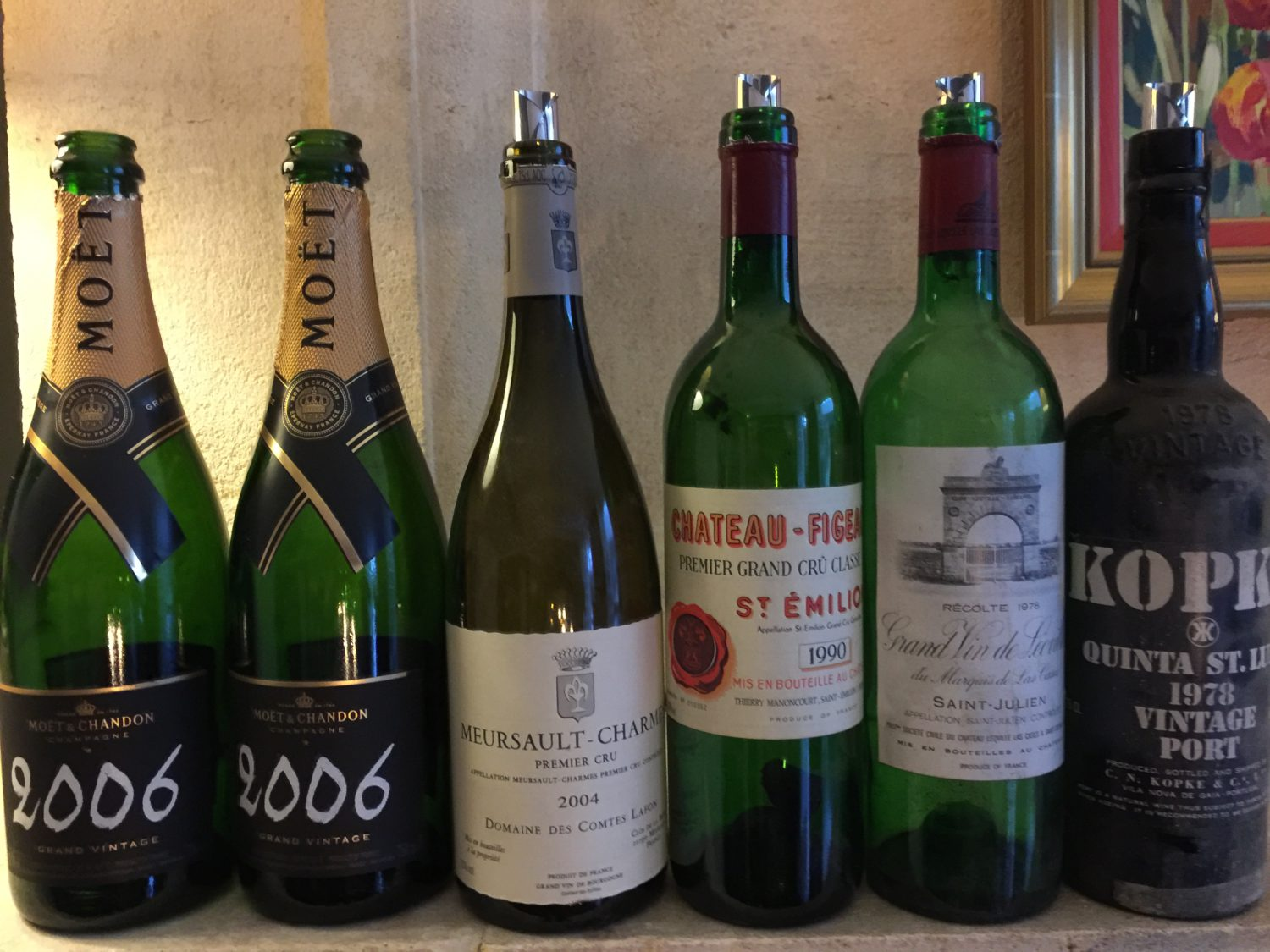 The score of this weekend's dinner party at our chateau