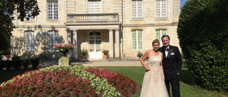 Ronald and Margaret in front of Chateau Coulon Laurensac