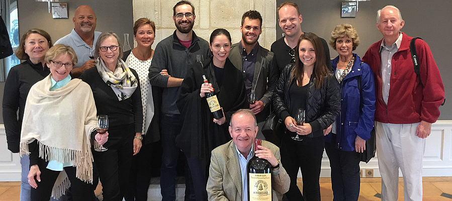 Tasting Angelus with the owner on our Bordeaux Wine Tours