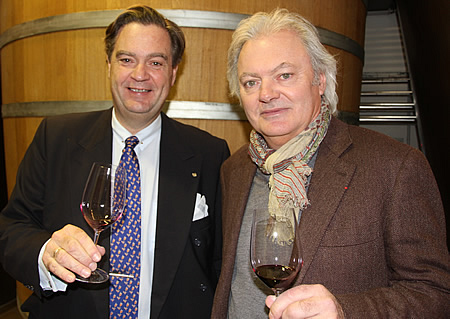 Ronald with Hubert de Bouard de Laforest, the man responsabel for the wines at Angelus