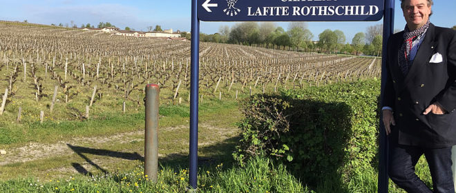 Ronald at Lafite Rothschild to taste the vintage 2017