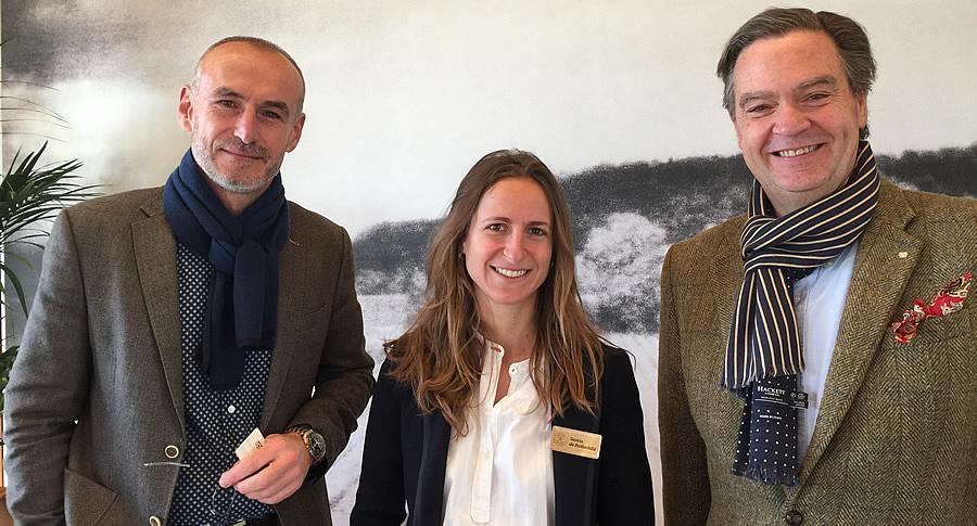 Ronald Rens with Saskia de Rothschild and Eric Kohler at Lafite Rothschild