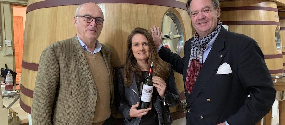 Ronald at Chateau Ausone, tasting the vintage 2018