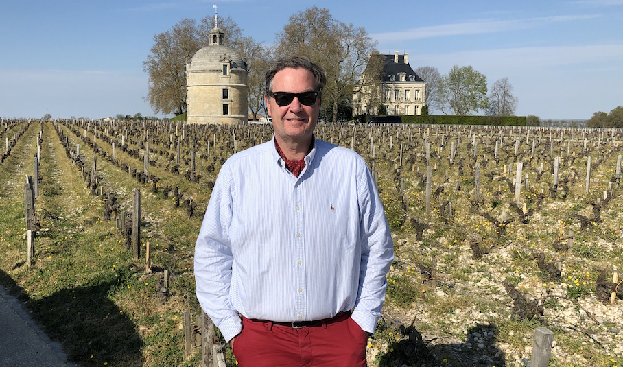 Ronald Rens at Chateau Latour to taste the Latour 2018
