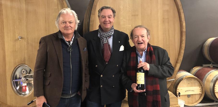 Ronald tasting Chateau Angelus 2018