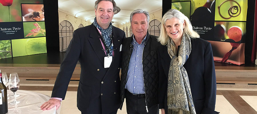 """Ronald tasting First Growth """"A"""" Chateau Pavie 2018 with the owner in Saint Emilion"""