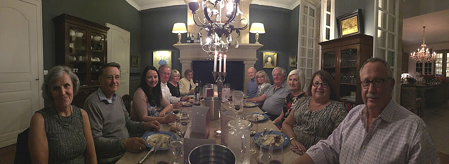 Fun and First Growths at the Farewell dinner at Chateau Coulon Laurensac