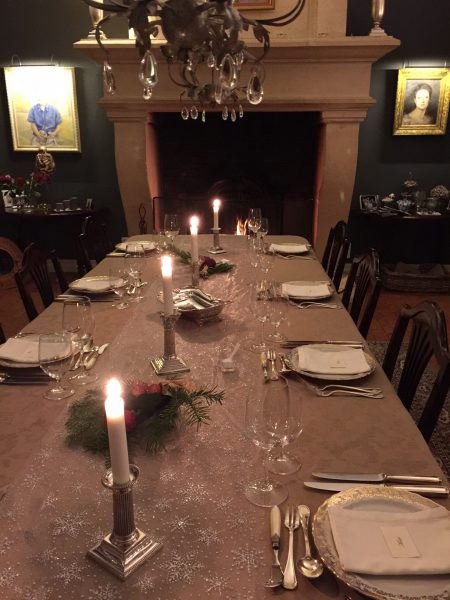 Dine in front of the same fireplace as Roberic used to do centuries ago