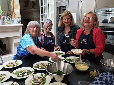 Great fun on the 2017 June Grand Cru Tour cooking class