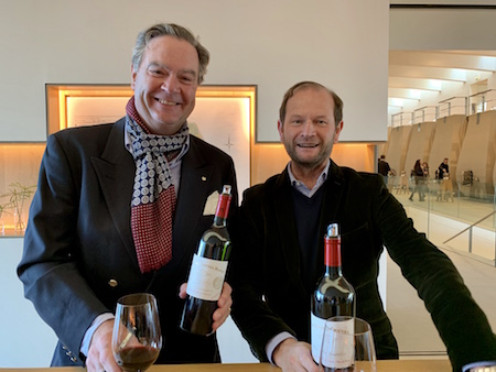 Tasting the excellent Cheval Blanc 2018 with a very happy Pierre Lurton
