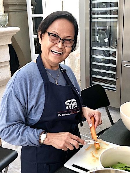Cooking action on the 2019 Bordeaux Harvest Tour 3